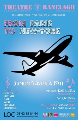 affiche du concert From Paris to New-york