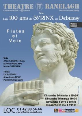 affiche les 100 ans de Syrinx de Debussy