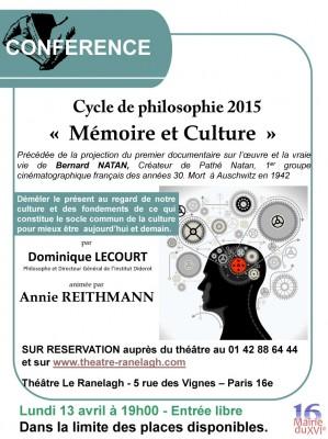affiche mémoire et culture dominique lecourt