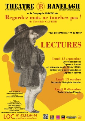 Lecture Gautier au Théâtre le Ranelagh