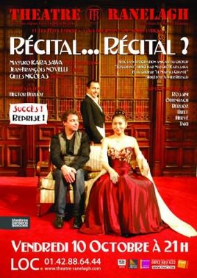 affiche du concert Récital... Récital ! avec Mayako Karasawa