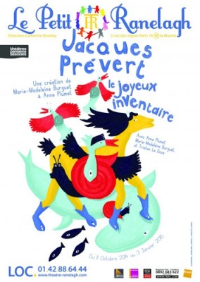 affiche du spectacle Le joyeux inventaire de Jacques Prevert