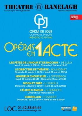 Opéra en 1 Acte au Théâtre le Ranelagh