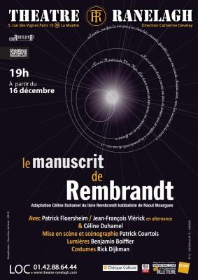 Le Manuscrit de Rembrandt au Théâtre le Ranelagh