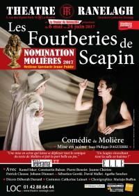 Affiche Les Fourberies de Scapin au Théâtre le Ranelagh