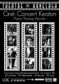 Affiche Ciné-Concert Keaton au Théâtre le Ranelagh