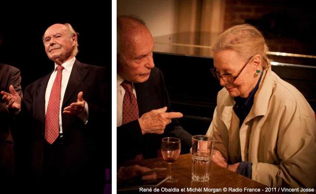 René de Obaldia et Michèle Morgan à l'atelier de vincent josse
